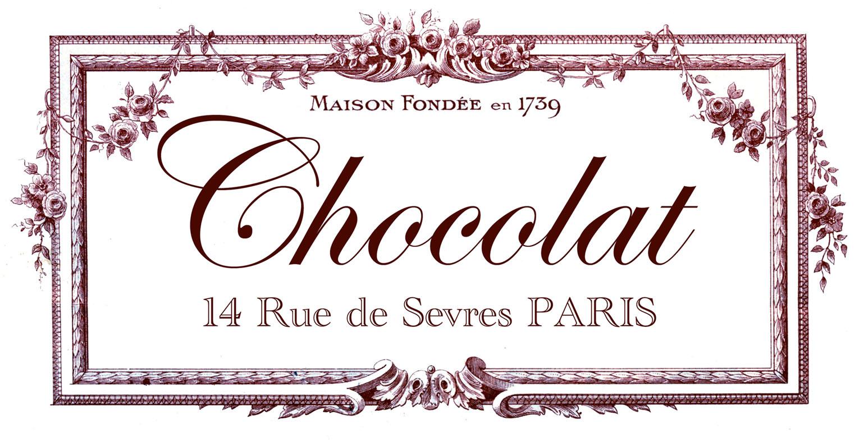 Transfer Printable - Chocolat Paris - The Graphics Fairy