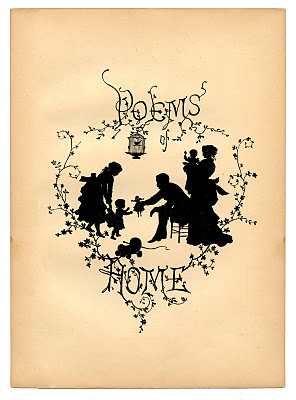 Vintage Ephemera - Gorgeous Silhouette - Home & Family  //  The Graphics Fairy