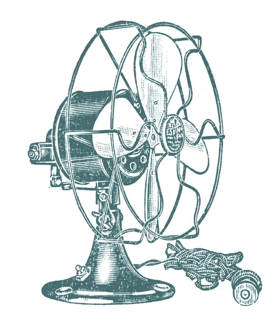 Vintage Clip Art Electric Fans Steampunk The