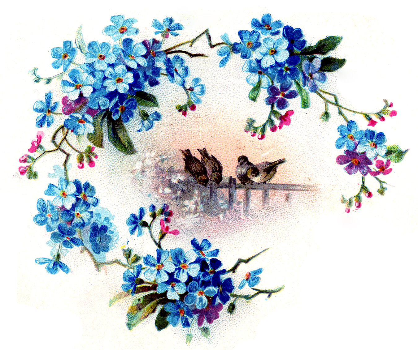 Old Fashioned Wedding Songs: Birds With Floral Frame