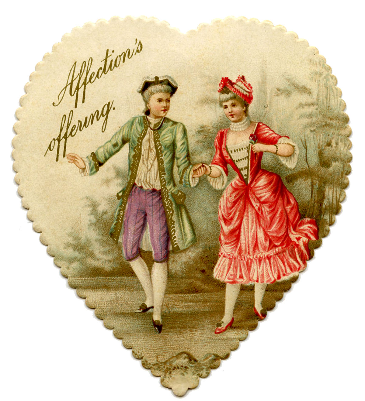 Image result for vintage valentine heart