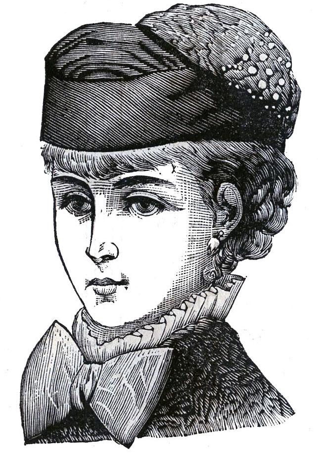 Victorian clip art 3 hat wearing heads ladies