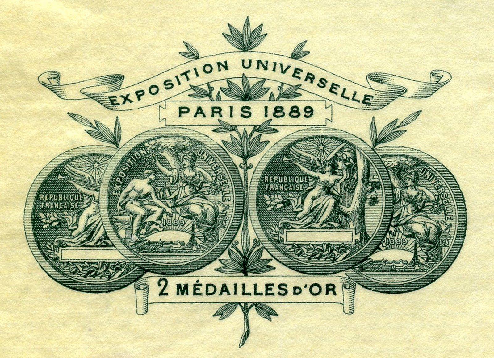 Vintage Clip Art - Paris Frame with Banner - The Graphics Fairy