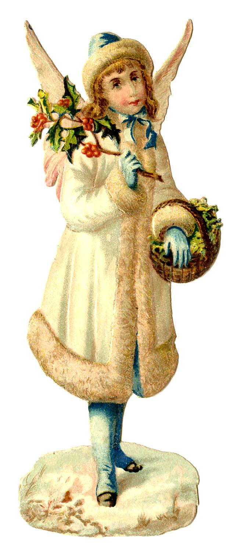 Victorian Clip Art Pretty Snow Angel The Graphics Fairy