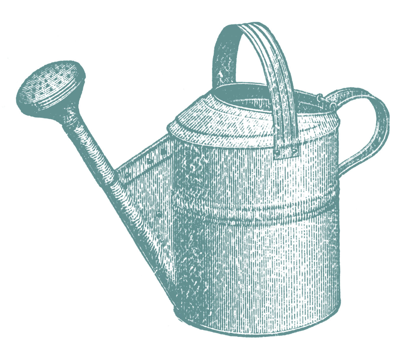 Vintage Garden Clip Art - Classic Watering Can - The Graphics Fairy