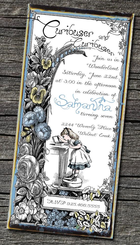 Brag Monday Bird Tray amp Alice in Wonderland Invites