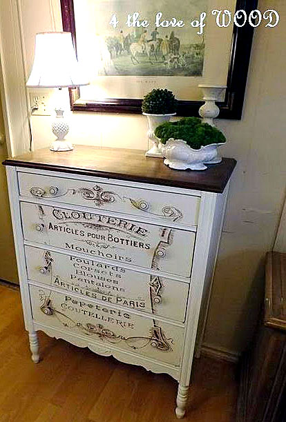Fabulous french typography dresser the graphics fairy for Furniture transfers