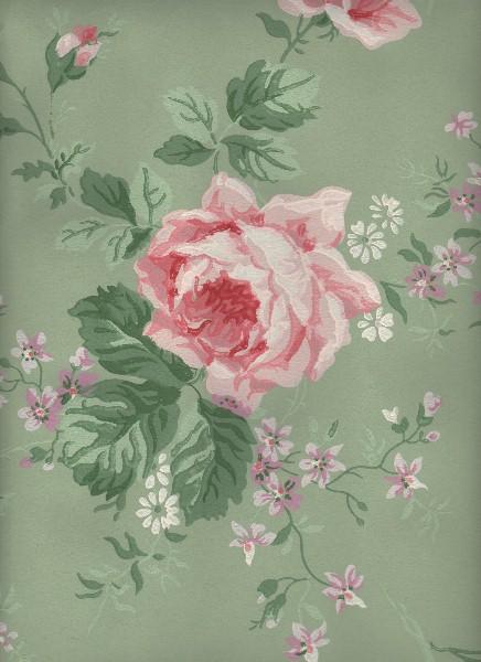 vintage wallpaper cabbage roses vintage wallpapers