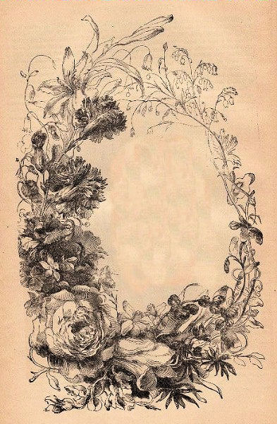 Victorian Floral Frame The Graphics Fairy