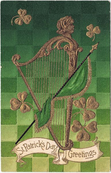 St Patrick S Day Graphic Harp The Graphics Fairy