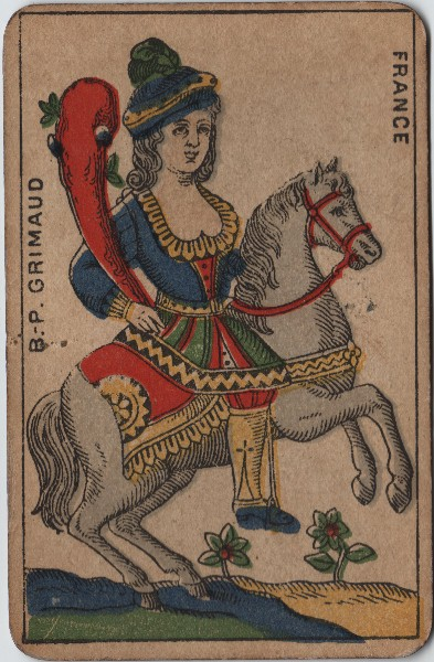 Another Pair Of Antique French Tarot Cards