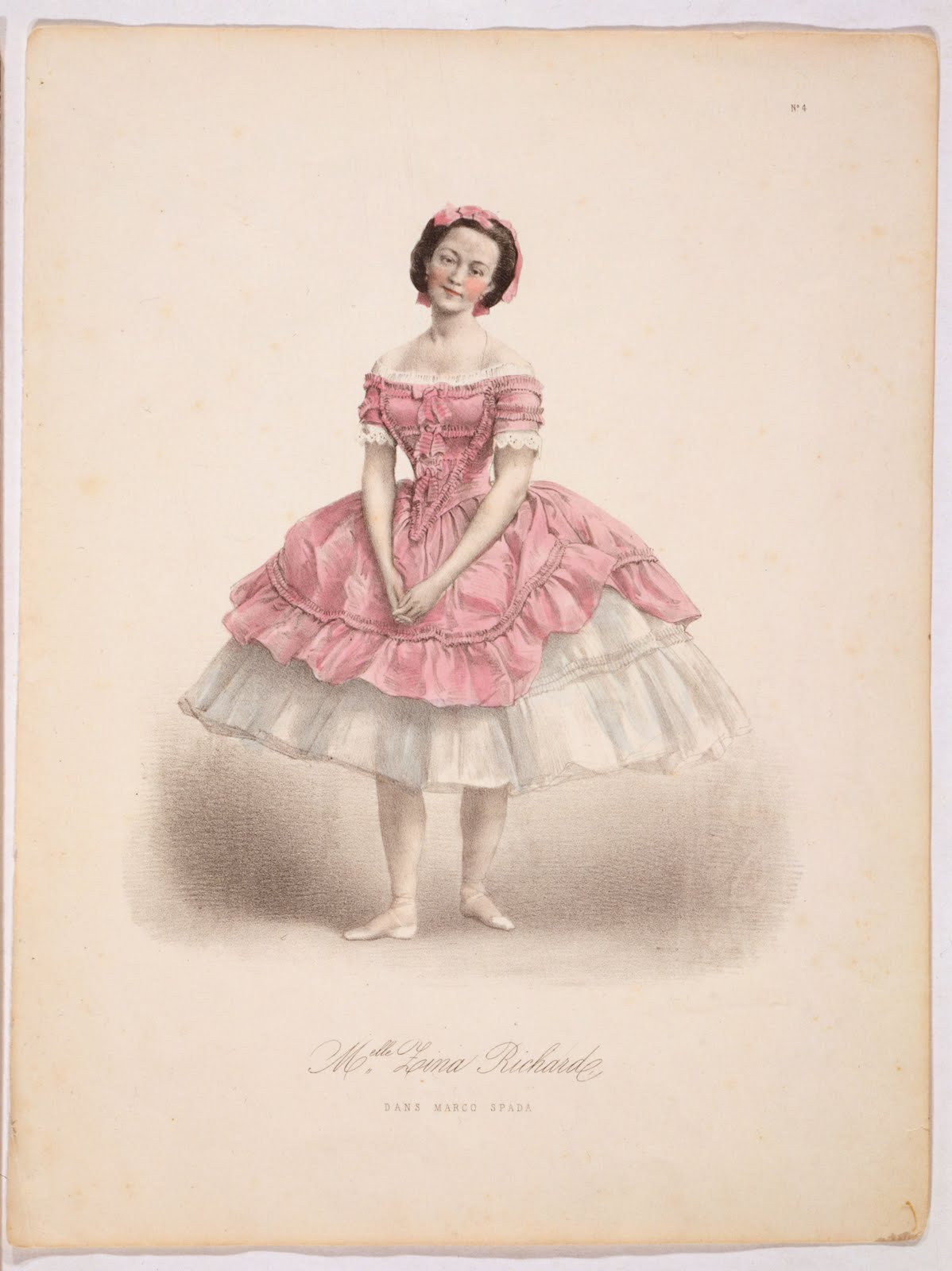 Antique Image - Lovely Pink Ballerina - The Graphics Fairy