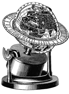 Vintage Clip Art Old Fashioned Globe The Graphics Fairy