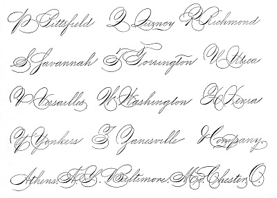Spencerian Handwriting Image