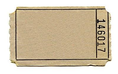 blank paper ticket