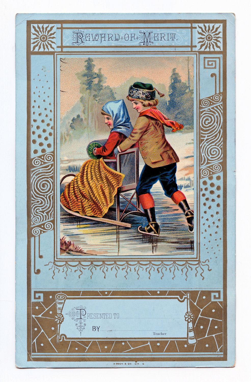 Free Vintage Clip Art - Winter Reward of Merit - The ...