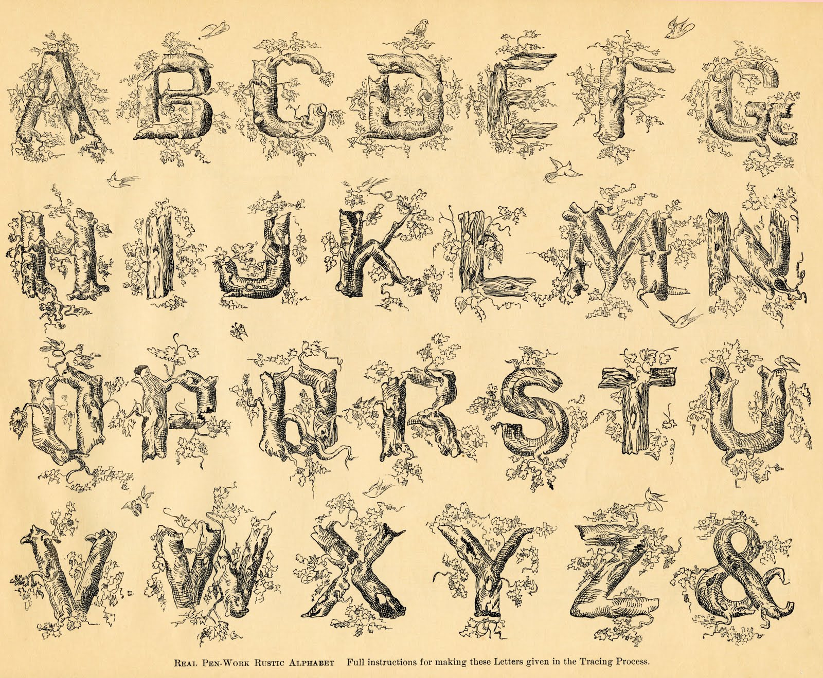 Free Antique Clip Art Spencerian Alphabet