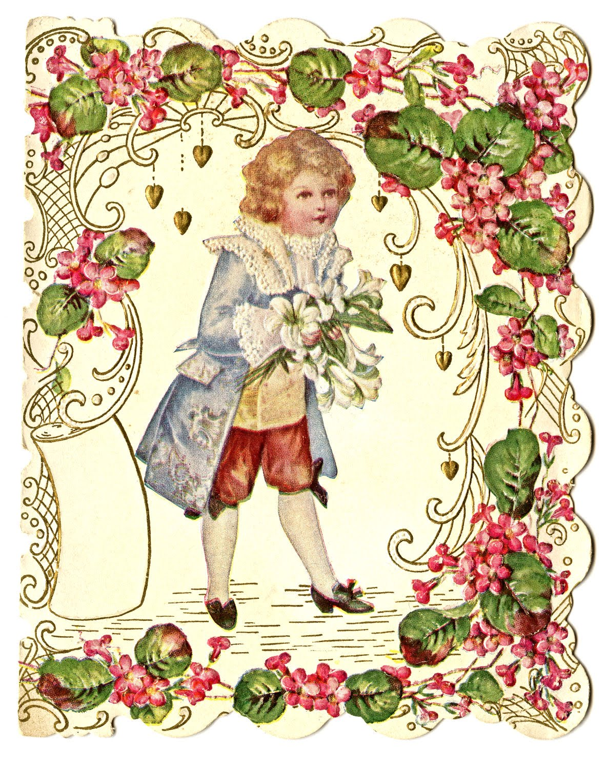 Free Valentines Day Clip Art  Vintage Postcards  The Graphics Fairy