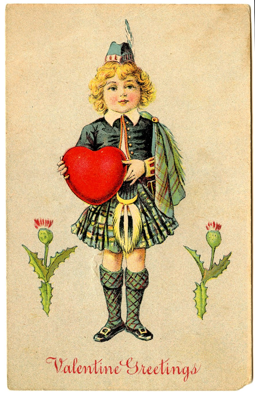 Free Valentine S Day Clip Art Vintage Postcards The Graphics Fairy