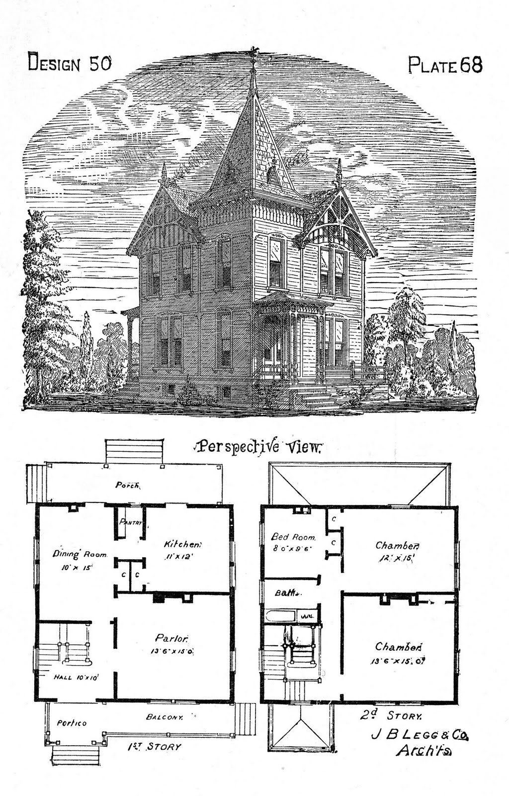 The gallery for vintage victorian house plans for Old victorian house plans