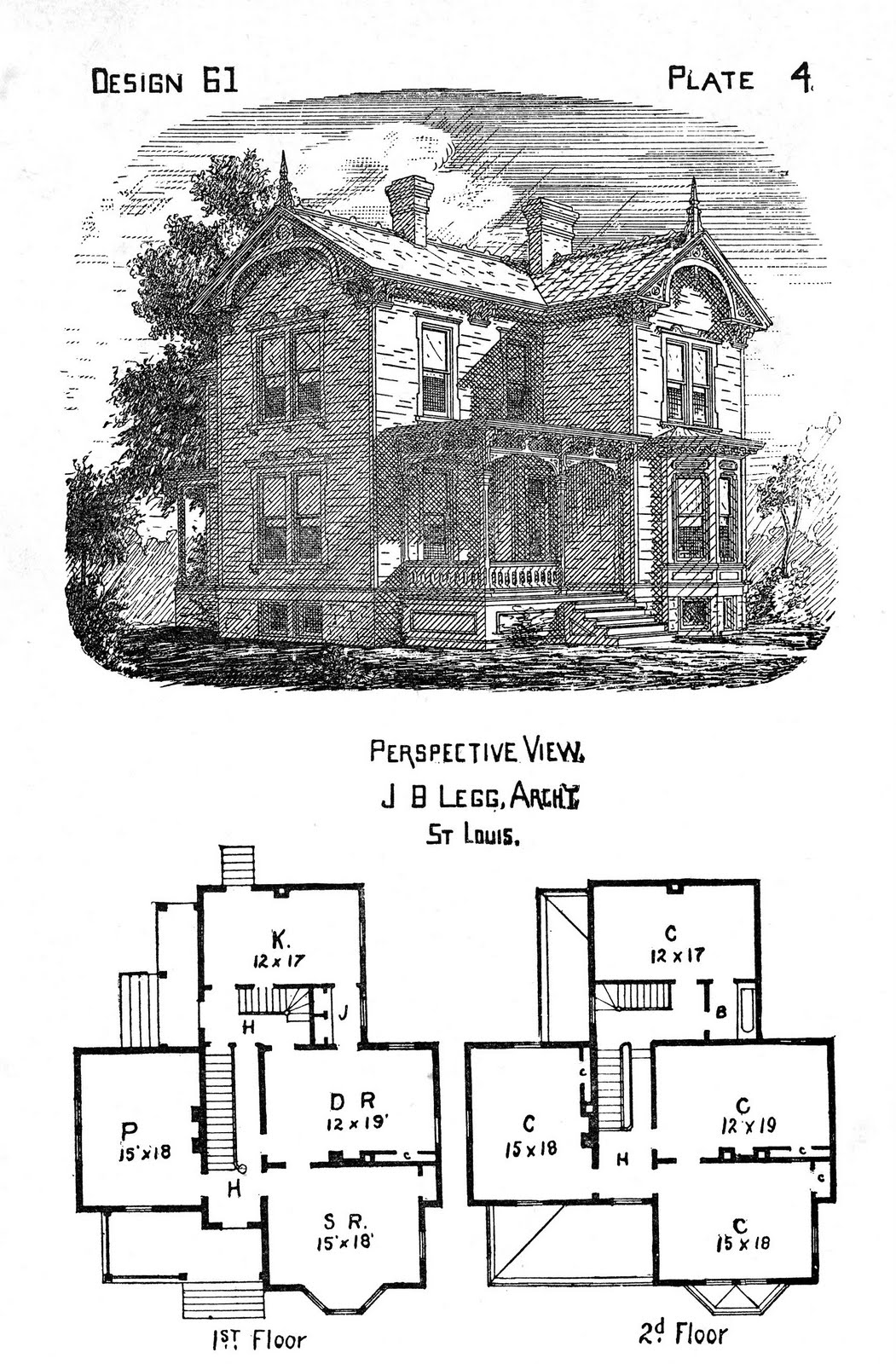 The gallery for vintage victorian house plans for Victorian house plans