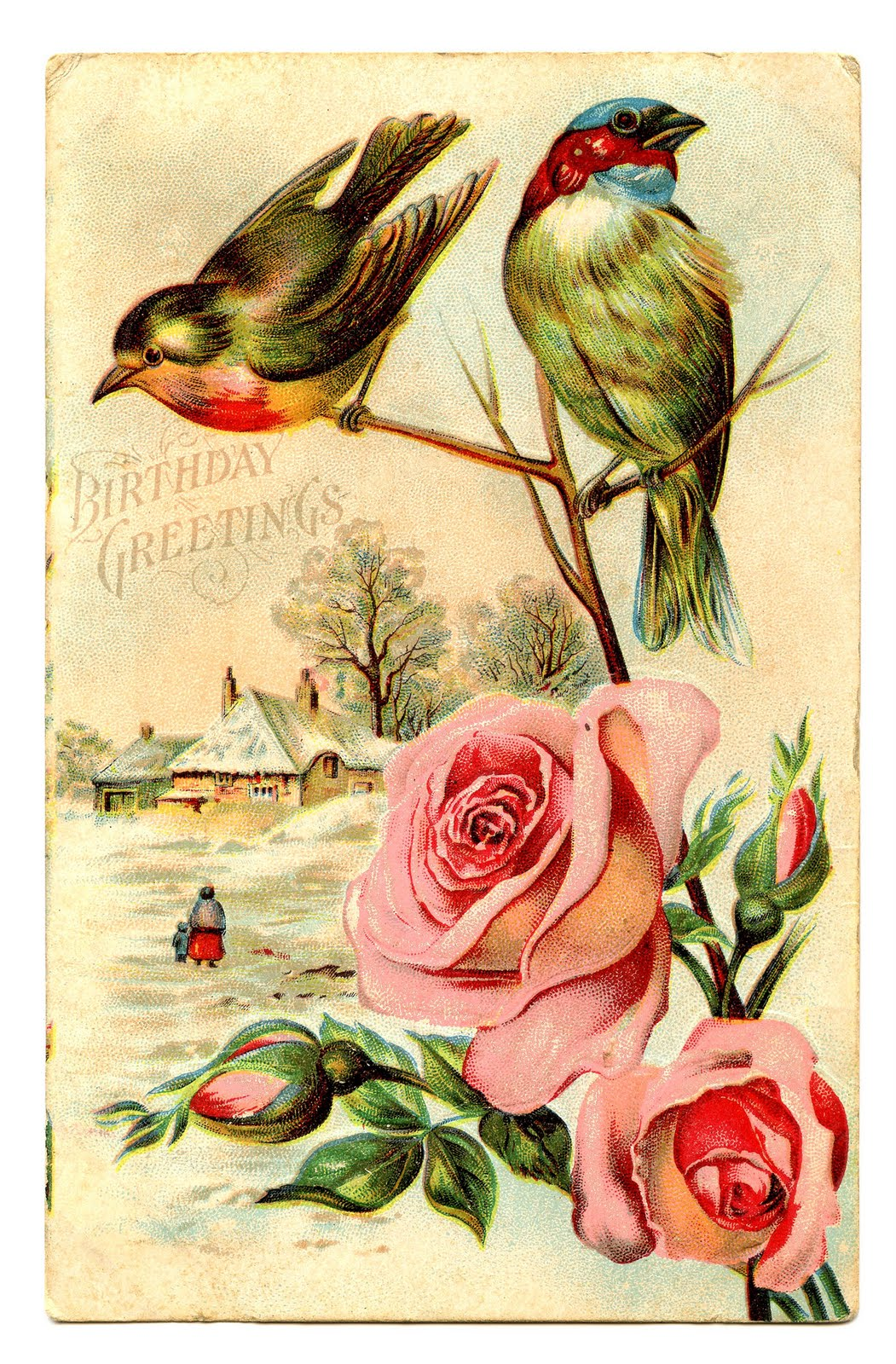 free vintage clip art birds with roses the graphics fairy