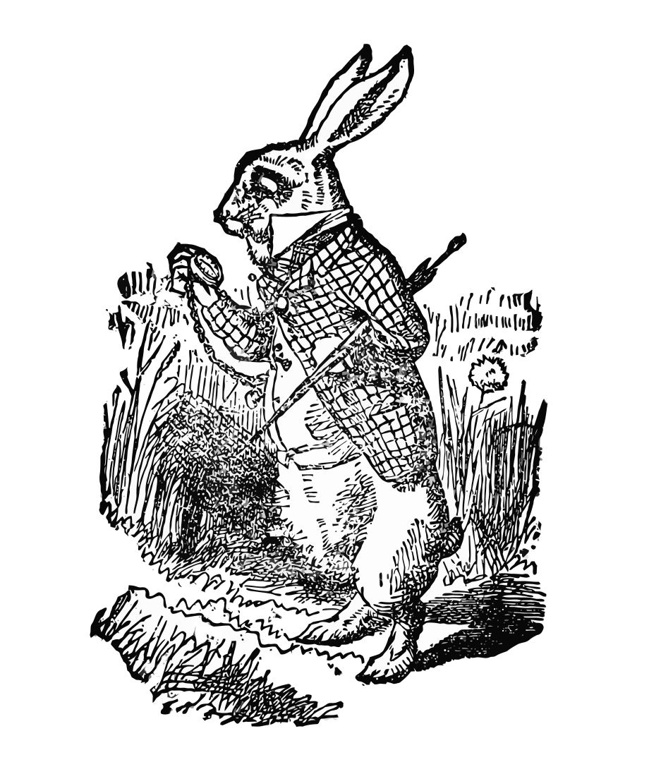 vintage clip art alice in wonderland - photo #5