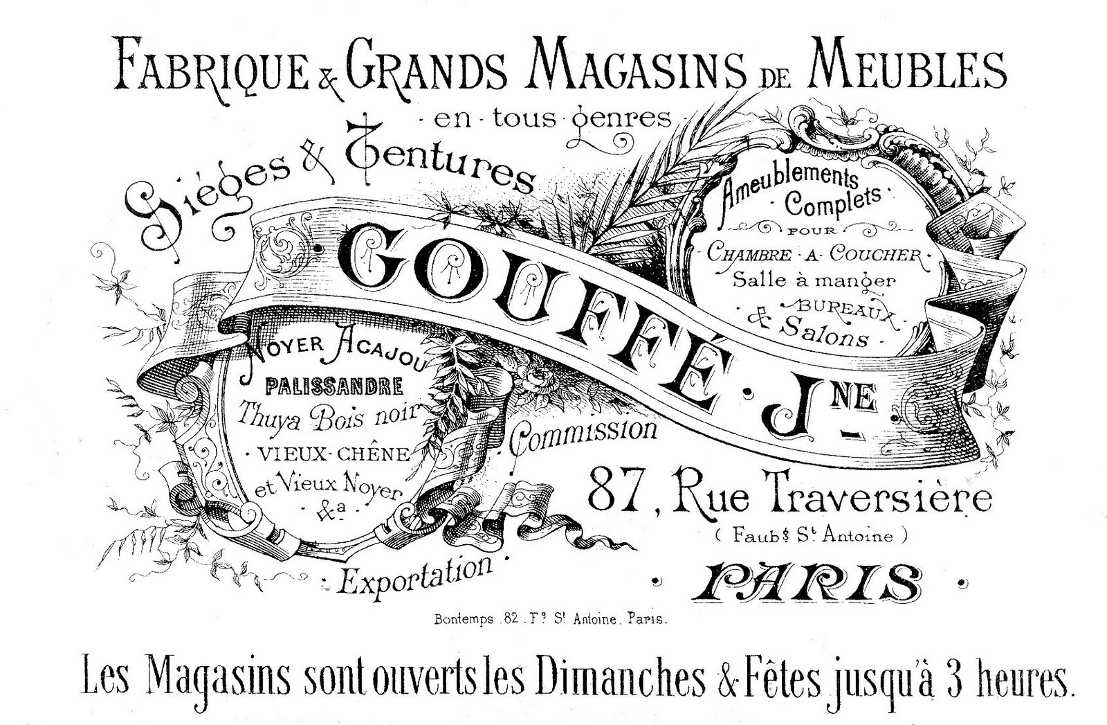 Free Vintage Clip Art - Paris Advertising Ephemera - The Graphics ...