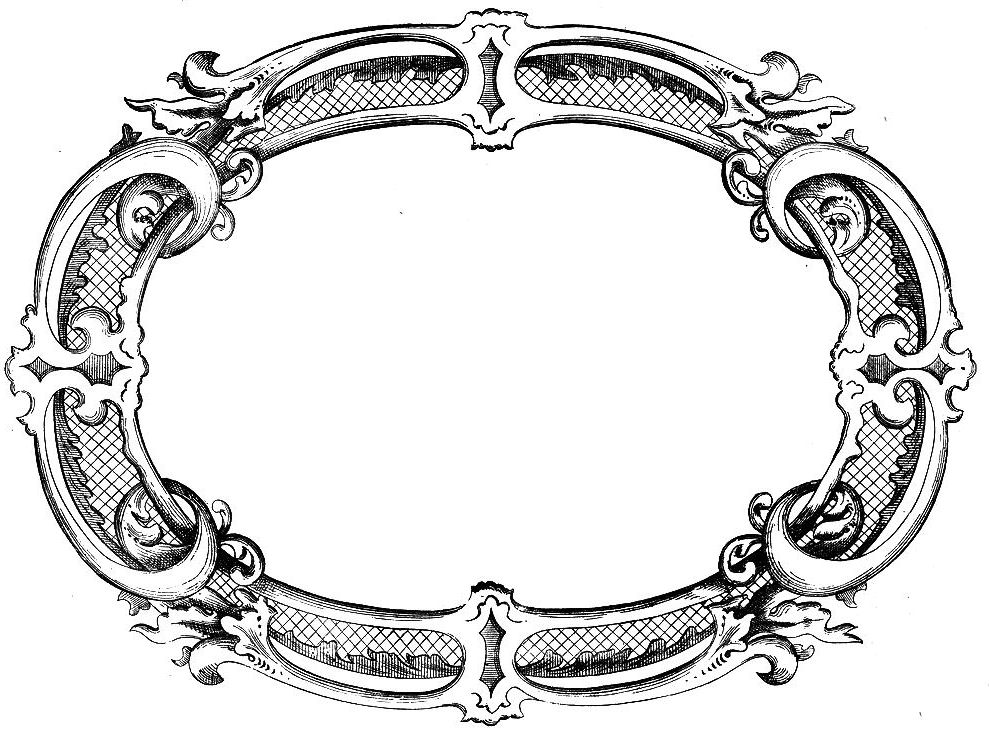 Vintage Clip Art - Fancy Frame - The Graphics Fairy