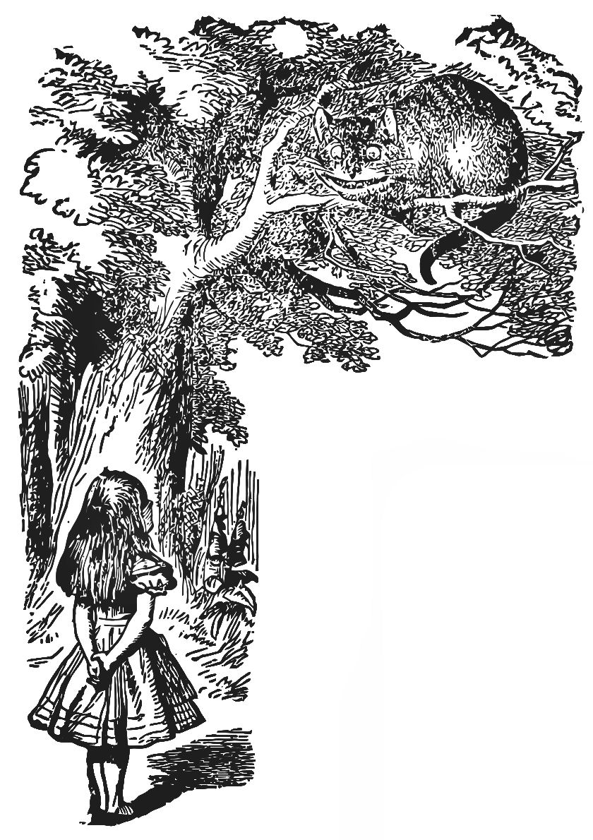 vintage clip art alice in wonderland - photo #23