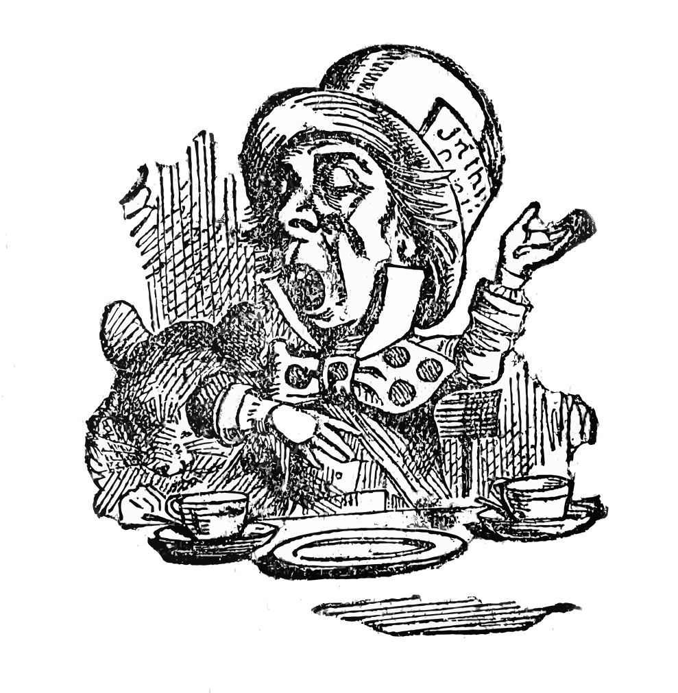vintage clip art alice in wonderland - photo #17