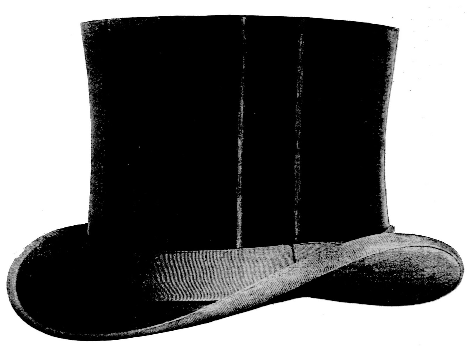 Free Vintage Clip Art - Awesome Top Hat - The Graphics Fairy