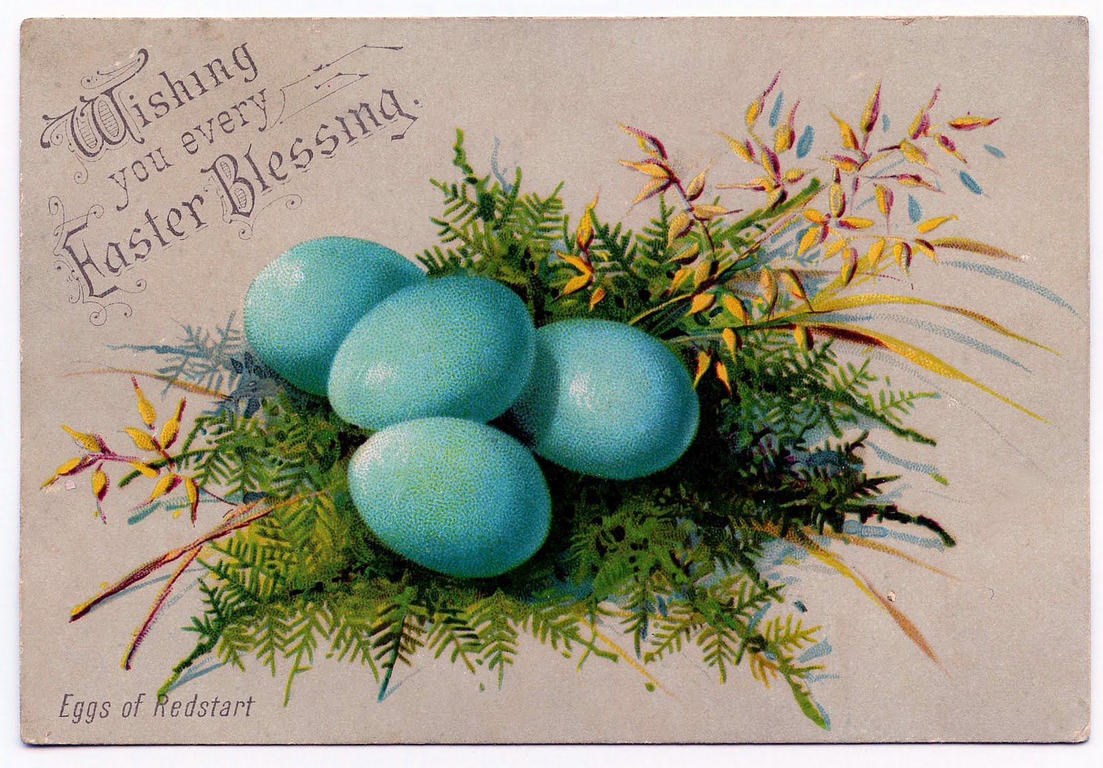 vintage clip art so pretty easter eggs the graphics fairy