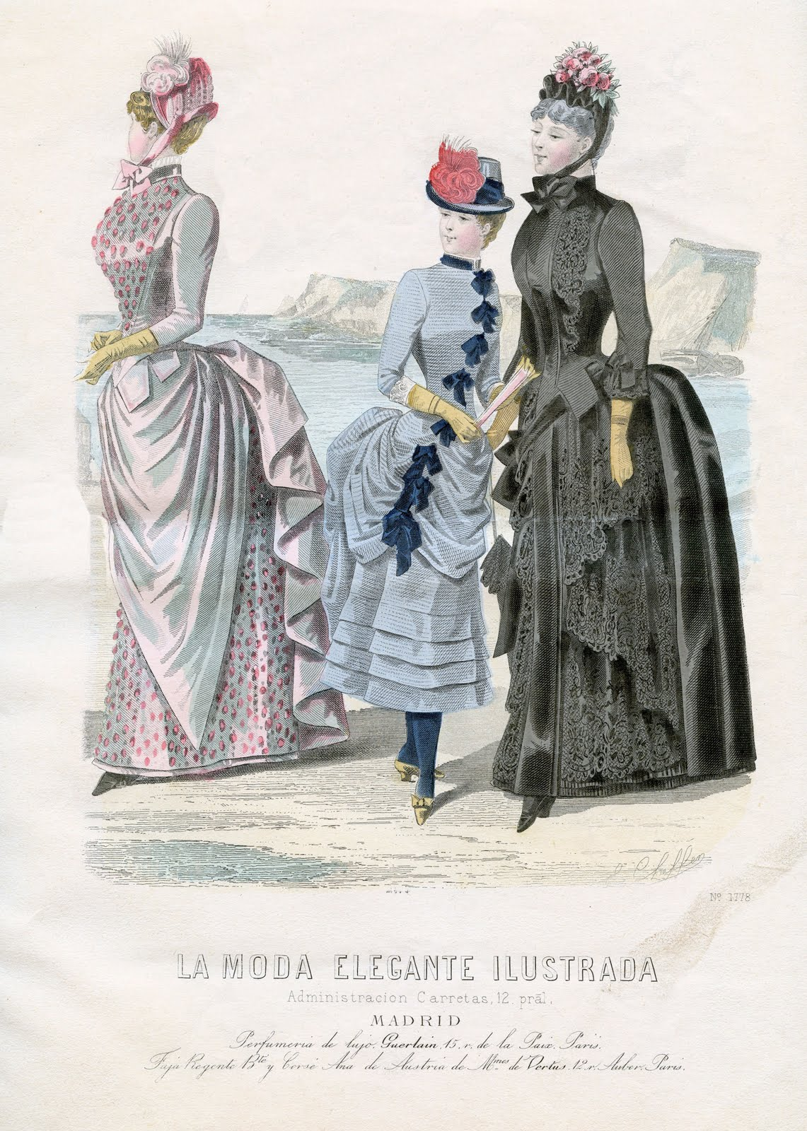 Vintage Clip Art Victorian Fashions French The