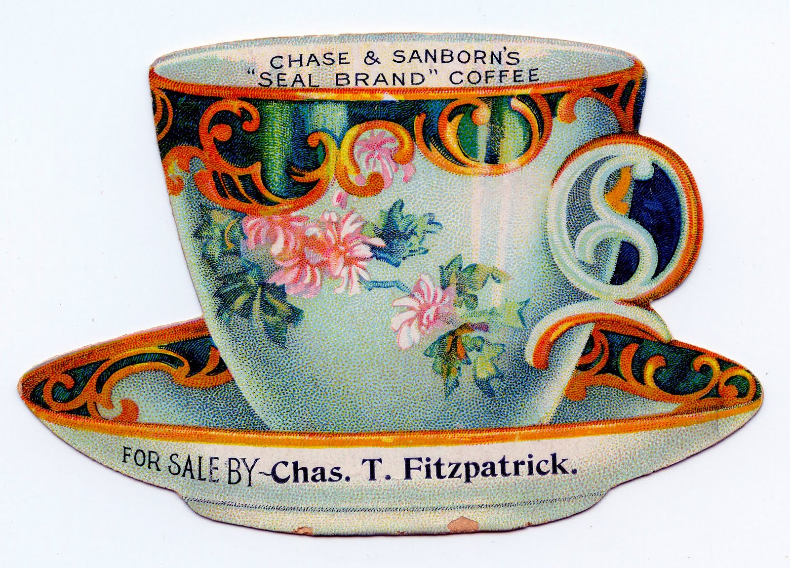 Cute Tea Cup Trade Card