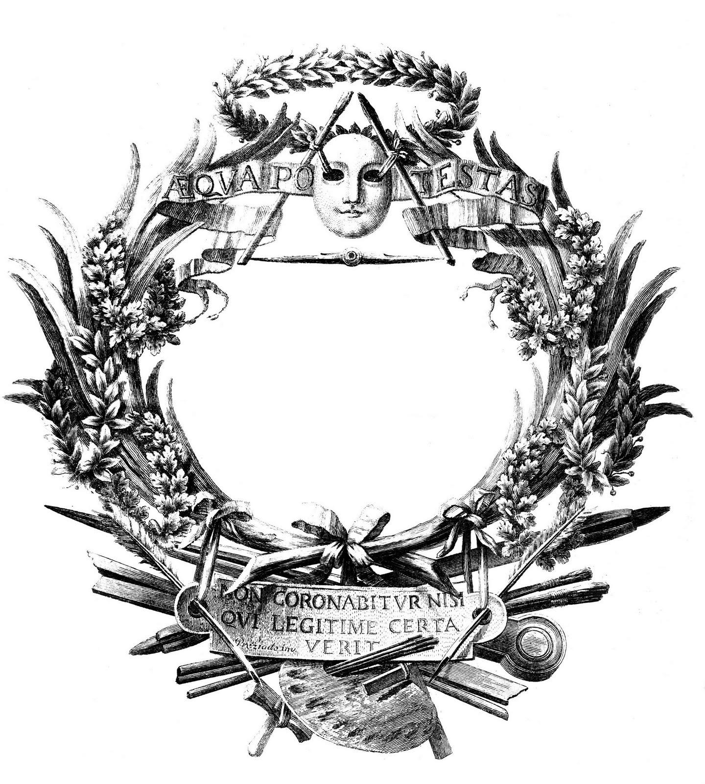 Antique Clip Art Amazing Italian Ephemera Frame The