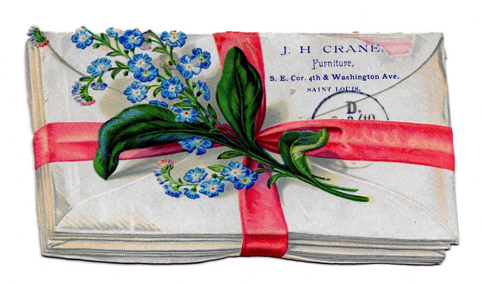 Vintage Clip Art - Bundle of Letters - The Graphics Fairy