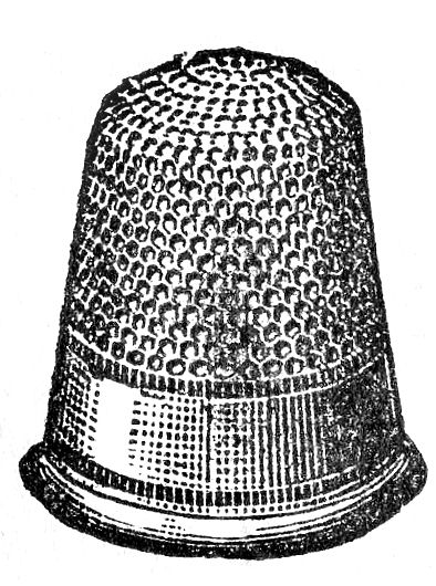 Vintage Clip Art Black And White Thimble The Graphics