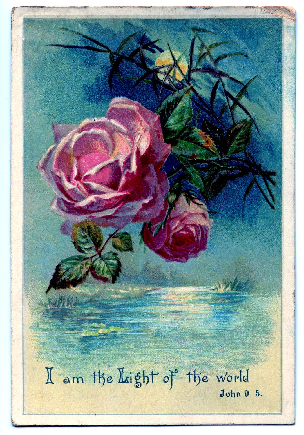 vintage clip art moonlight and roses 2 the graphics fairy