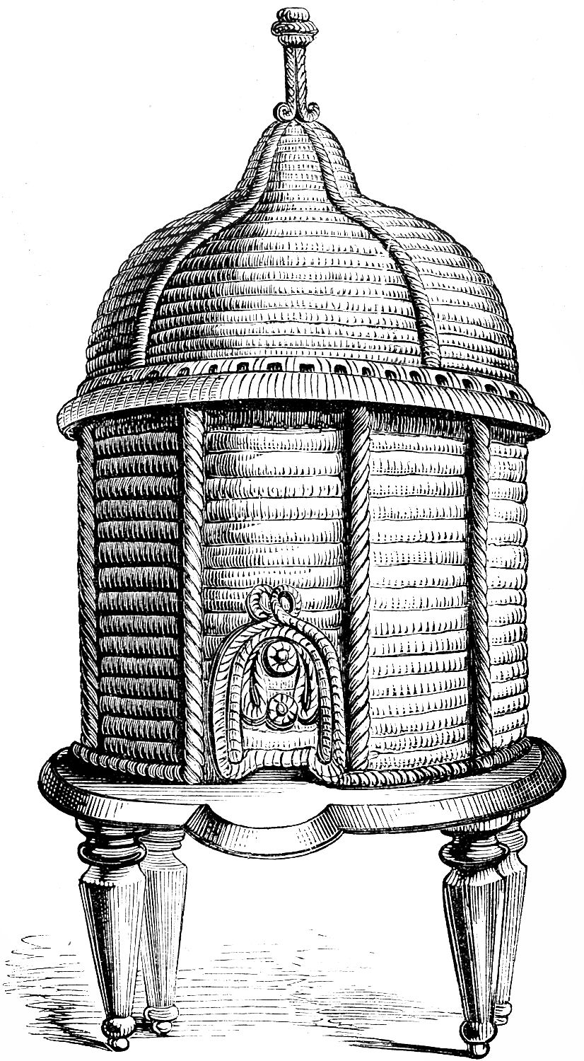 Vintage Clip Art Ornate Bee Hive