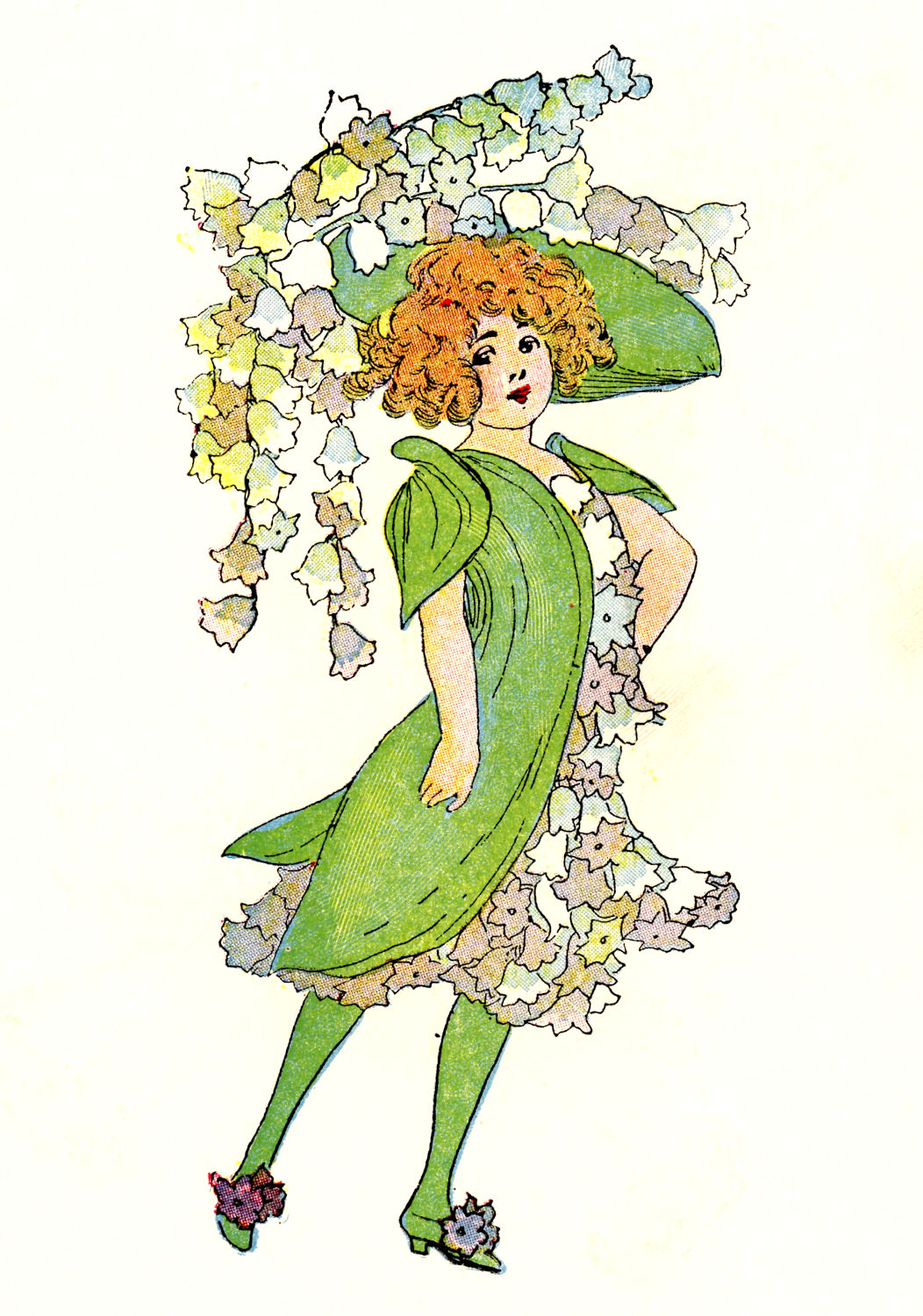 Vintage Clip Art 3 Flower Fairies The Graphics Fairy