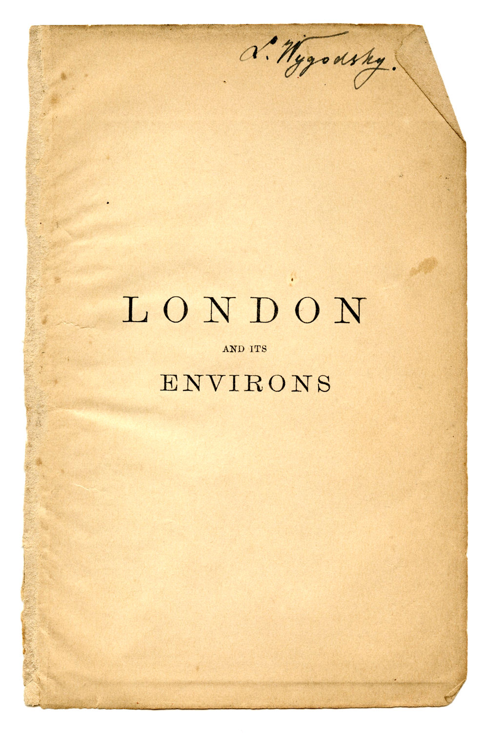 Vintage Clip Art - Old London Guide Book - The Graphics Fairy