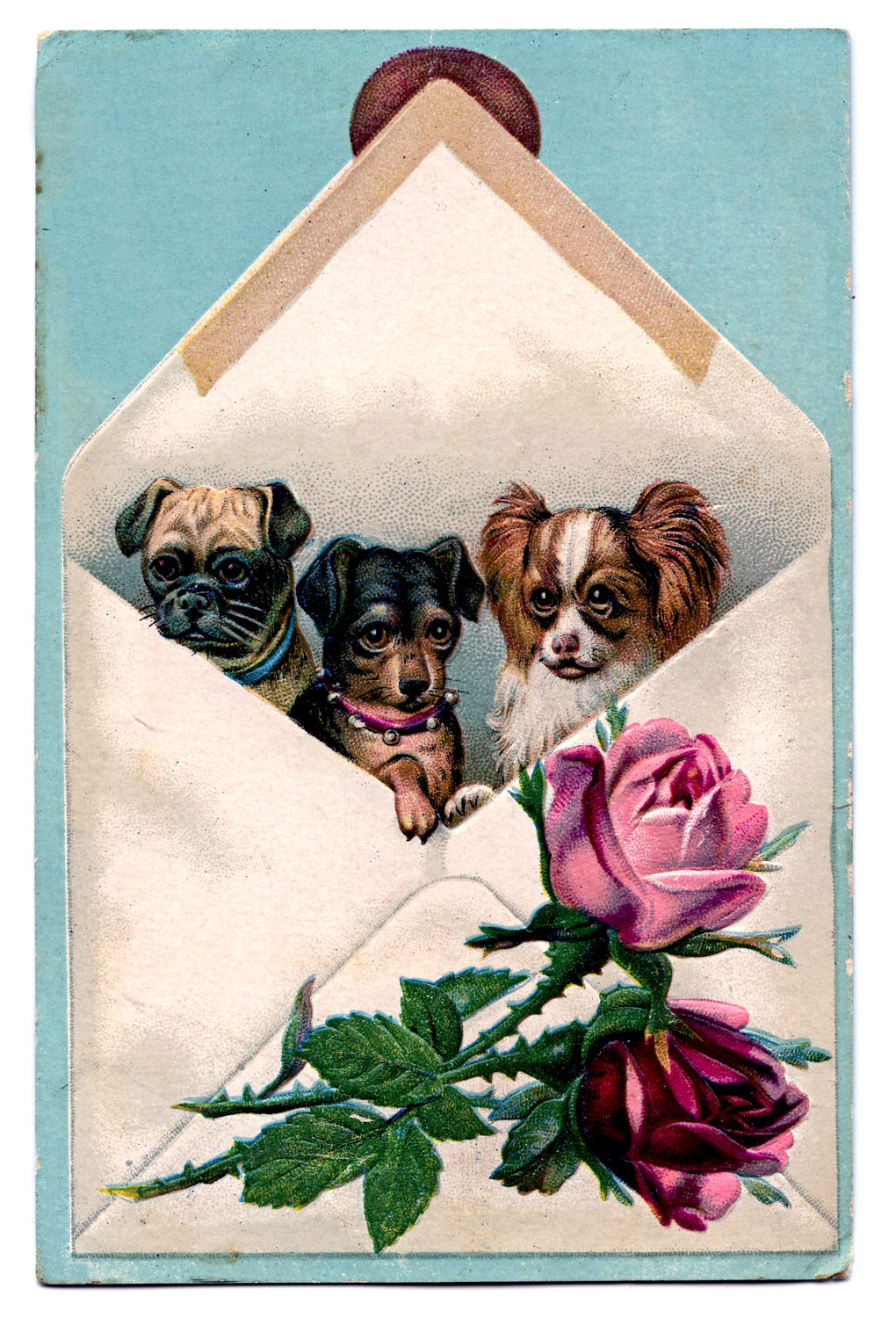 Free Valentine Card Dogs