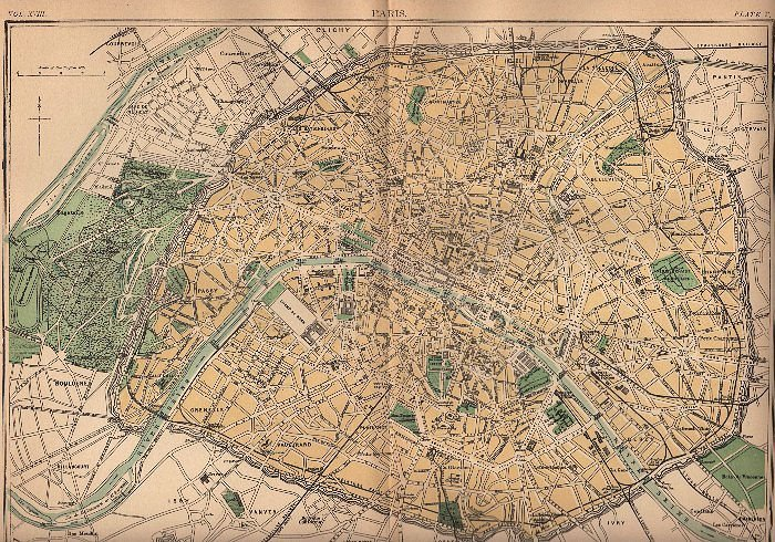Old Map Of Paris 1888 The Graphics Fairy
