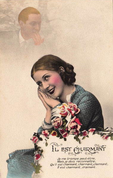 Astounding French Postcard Daydream The Graphics Fairy Funny Birthday Cards Online Ioscodamsfinfo