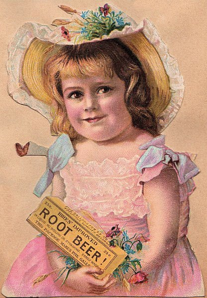 Little Girl Old Rootbeer Advertising The Graphics Fairy