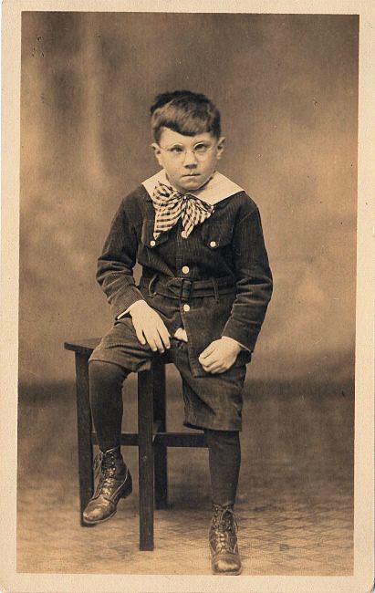 Vintage little boy cranky the graphics fairy