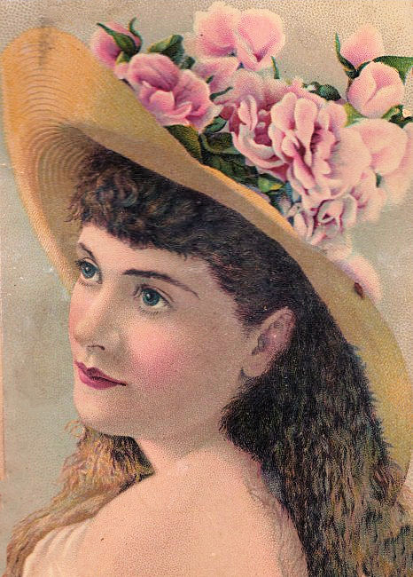 Victorian Woman With Straw Hat The Graphics Fairy