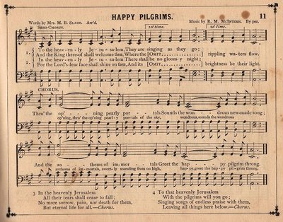 Vintage Sheet Music Happy Pilgrims The Graphics Fairy