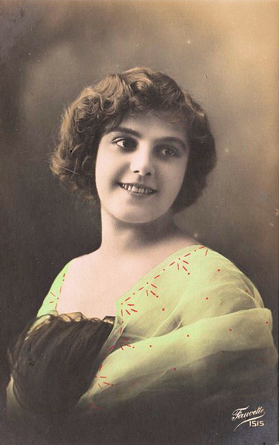Vintage French Postcard Pretty Young Woman The